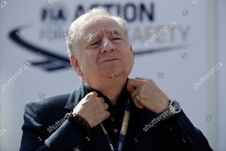Former F1 team manager Jean Todt gestures at the Monza racetrack, in Monza, Italy, Saturday, Sept.7, 2019. The Formula one race will be held on Sunday