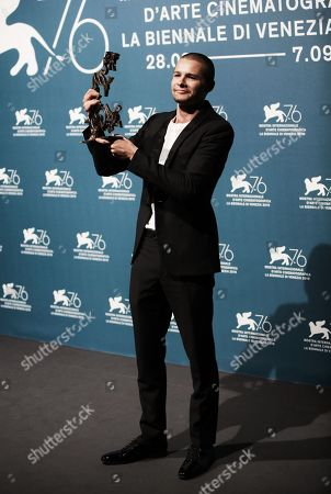 Toby Wallace holds the Marcello Mastroianni Award for Best New Talent for his role in 'Babyteeth'