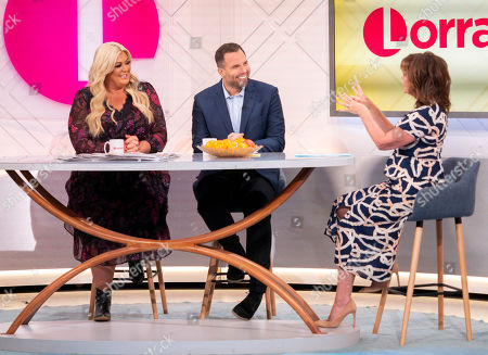 Gemma Collins, Dan Wooton and Lorraine Kelly