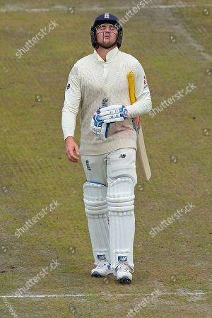 Jason Roy of England reacts after being dismissed during day five of the 4th Specsavers Ashes Test Match, at Old Trafford Cricket Ground, Manchester, England