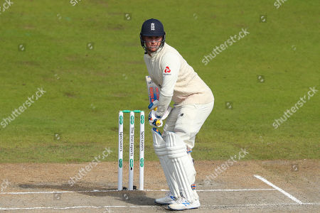 Jason Roy of England batting during day five of the 4th Specsavers Ashes Test Match, at Old Trafford Cricket Ground, Manchester, England
