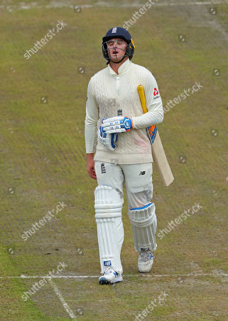 Jason Roy of England walks off after being dismissed during day five of the 4th Specsavers Ashes Test Match, at Old Trafford Cricket Ground, Manchester, England
