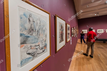 Works in Room 5, A New Kind of Man all late works from the1820's- William Blake at Tate Britain.