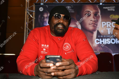 Dereck Chisora during a Press Conference at the Park Plaza on 9th September 2019