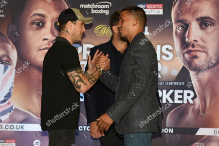 Stock Photo of Ricky Burns (L) and Lee Selby during a Press Conference at the Park Plaza on 9th September 2019
