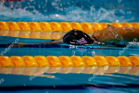 Alice Tai of Great Britain in action during the Women's 100 m Freestyle S8 at the World Para Swimming Championships 2019 Day 1 held at London Aquatics Centre, London