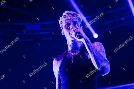 Editorial image of Machine Gun Kelly in concert, Fabrique, Milan, Italy - 08 Sep 2019