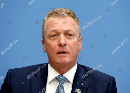 Stock Picture of Thomas Linemayr, CEO of the coffee retailer 'Tchibo', attends a press conference in Berlin, Germany