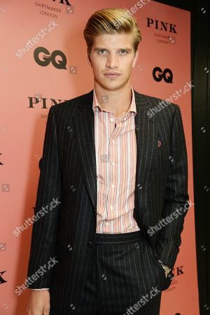 Toby Huntington-Whiteley wearing Pink Shirtmaker