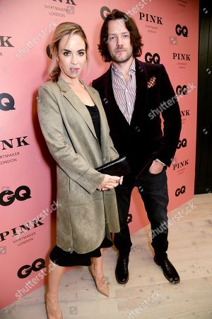 Stock Picture of Eve Macklin and Padraic Delaney wearing Pink Shirtmaker