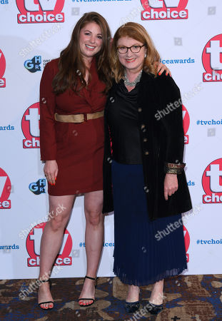 Stock Image of Felicity Montagu and daughter