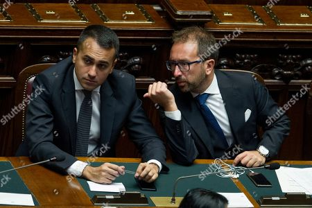 Foreign Minister Luigi Di Maio and Justice Minister Alfonso Bonafede during the vote of confidence of new government in the House of Representatives