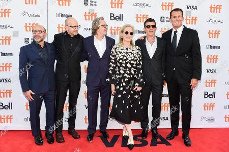 Scott Z Burns, Steven Soderbergh, Gary Oldman, Meryl Streep, Antonio Banderas, and