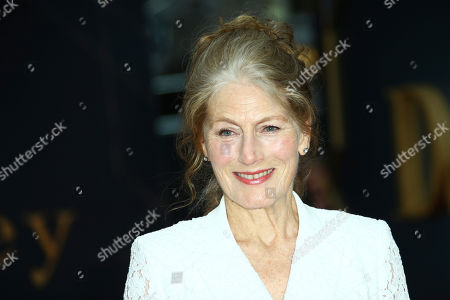 Stock Photo of Geraldine James poses for photographers upon arrival at the World premiere of the film 'Downton Abbey' in central London