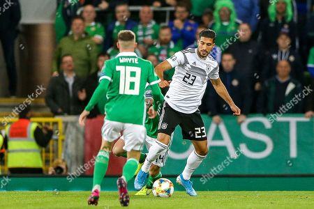 Germany midfielder Emre Can (23) on the ball during the UEFA European 2020 Qualifier match between Northern Ireland and Germany at National Football Stadium, Windsor Park