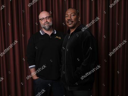 "Eddie Murphy, Craig Brewer. Eddie Murphy, right, star of the film ""Dolemite Is My Name,"" poses with director Craig Brewer at the Shangri-La Hotel during the Toronto International Film Festival, in Toronto"