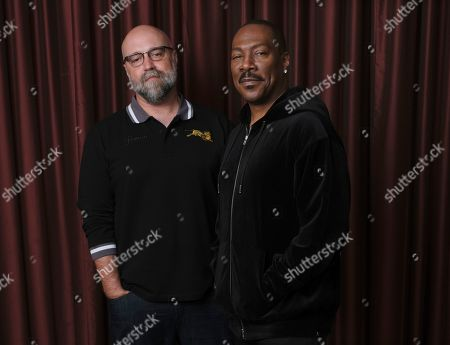 "Eddie Murphy, Craig Brewer. This photo shows Eddie Murphy, right, star of the film ""Dolemite Is My Name,"" with director Craig Brewer at the Shangri-La Hotel during the Toronto International Film Festival in Toronto"