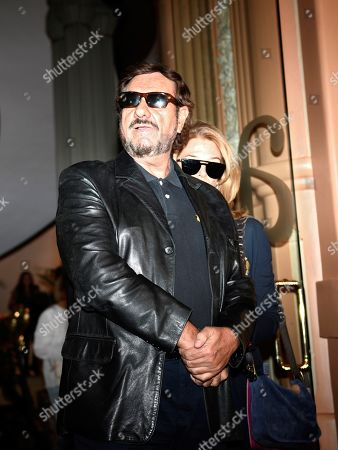 Spanish singer and songwriter Emilio Jose (L) and his wife arrive at the funeral chapel of late Spanish singer Camilo Sesto at his funeral chapel installed at the Spanish Society of Authors and Publishers (SGAE) in Madrid, Spain, 09 September 2019. Camilo Sesto passed away from a cardiac arrest at a clinic in Madrid in the early hours of 08 September 2019. He was 72.