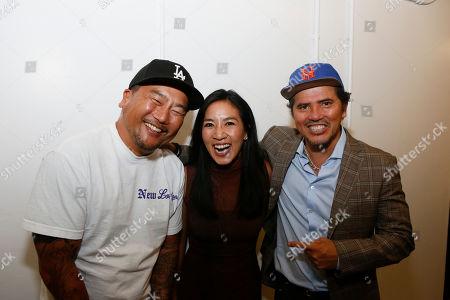 Roy Choi, Michelle Kwan and John Leguizamo