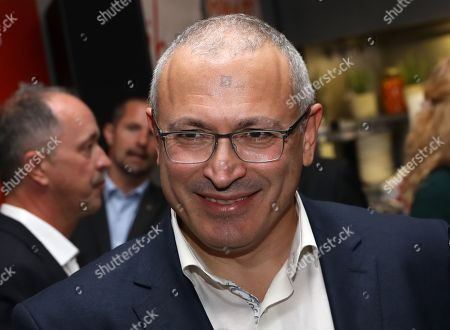 Exiled Russian businessman, Mikhail Khodorkovsky, attends the 'BILD100 summer party' event in Berlin, Germany, 09 September 2019. 100 of the most important decision-makers from politics and business as well as well-known personalities from sports, art and culture are expected at the event held by Germany's highest-circulation newspaper BILD.