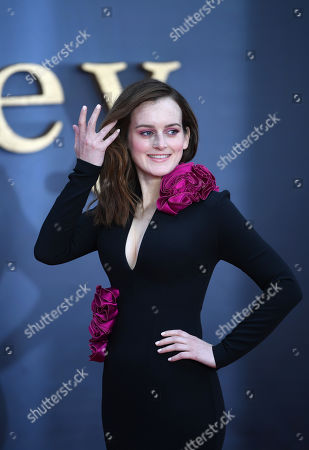 Sophie McShera attends the World Premiere of 'Downton Abbey' at Leicester Square in Lonâ??don, Britain, 09 September 2019. The movie, based on the hit television show, is released in UK cinema on 13 September 2019.