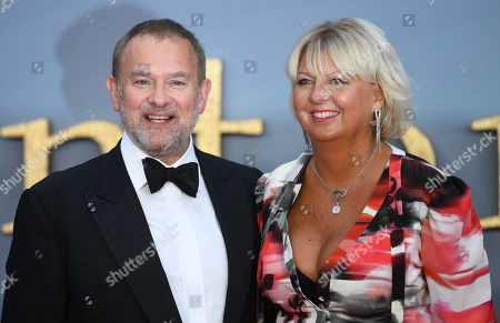 Hugh Bonneville (L) and his wife Lulu Williams attend the World Premiere of 'Downton Abbey' at Leicester Square in Lonâ??don, Britain, 09 September 2019. The movie, based on the hit television show, is released in UK cinema on 13 September 2019.