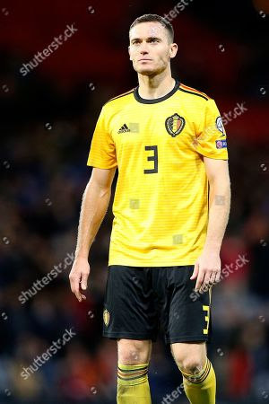 Belgium defender Thomas Vermaelen (3) (Vissel Kobe) during the UEFA European 2020 Qualifier match between Scotland and Belgium at Hampden Park, Glasgow