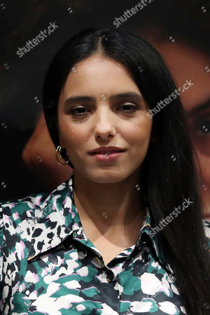 """French director and actress Hafsia Herzi poses during the photocall of her movie """"Tu merites un amour"""", in Paris"""
