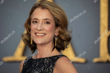 Raquel Cassidy poses for photographers upon arrival at the world premiere of the film 'Downton Abbey' in London