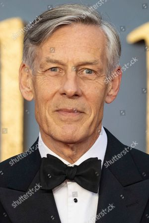 Stock Photo of Douglas Reith poses for photographers upon arrival at the world premiere of the film 'Downton Abbey' in London