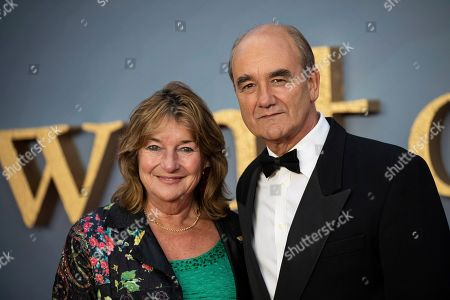 Stock Photo of David Haig poses for photographers upon arrival at the world premiere of the film 'Downton Abbey' in London