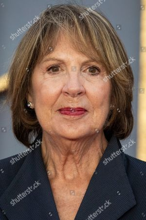 Penelope Wilton poses for photographers upon arrival at the world premiere of the film 'Downton Abbey' in London