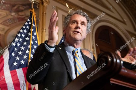 Democratic Senator from Ohio Sherrod Brown delivers remarks during a news conference on the Bipartisan Background Checks Act, H.R. 8, on Capitol Hill in Washington, DC, USA, 09 September 2019. Democrats held a news conference to urge the Senate to vote on legislation already passed in the House, H.R. 8, that would expand gun background checks. There has been a renewed call for gun control reform legislation in the United States following the 03 August 2019 mass shooting that killed 22 people in El Paso, Texas; and the mass shooting the following day in Dayon, Ohio, that resulted in ten deaths.