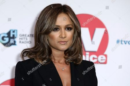 Mandeep Dhillon poses for photographers on arrival at the TV Choice Awards in central London on