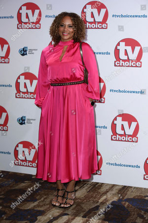 Angela Griffin poses for photographers on arrival at the TV Choice Awards in central London on