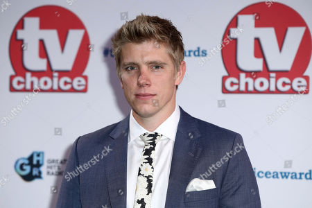 Ryan Hawley poses for photographers on arrival at the TV Choice Awards in central London on