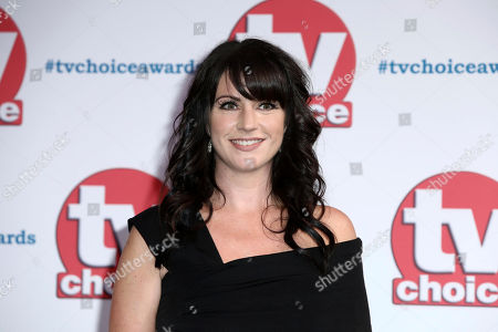 Laura Norton poses for photographers on arrival at the TV Choice Awards in central London on