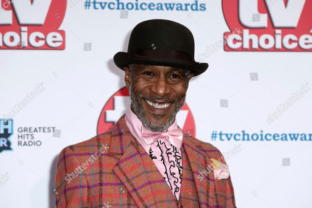 Danny John-Jules poses for photographers on arrival at the TV Choice Awards in central London on