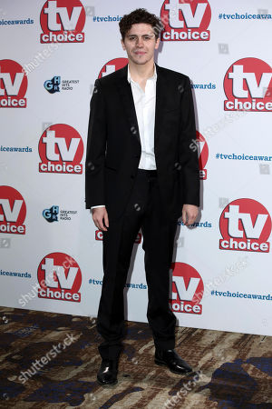 Stock Picture of Dylan Llewellyn poses for photographers on arrival at the TV Choice Awards in central London on
