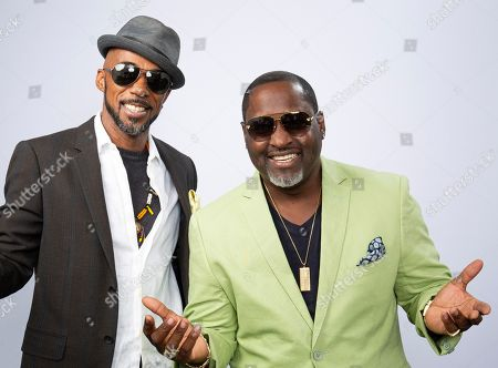 "Ralph Tresvant, Johnny Gill. This photo shows portrait shows New Edition bandmates Ralph Tresvant, left, and Johnny Gill posing for a portrait in Los Angeles to promote Gill's eighth studio album ""Game Changer II"