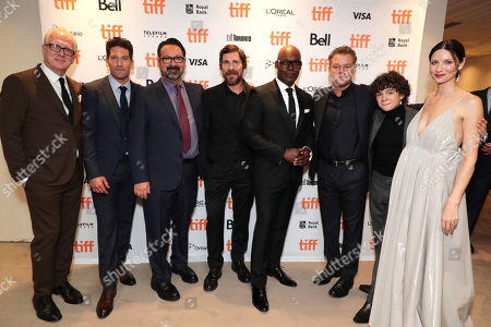 Tracy Letts, Jon Bernthal, James Mangold, Director/Producer, Christian Bale, Cameron Bailey, Artistic Director & Co-Head of TIFF, Matt Damon, Noah Jupe, Caitriona Balfe