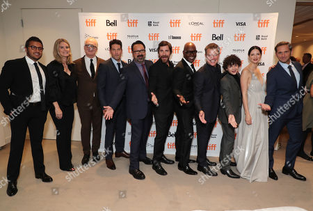 Asad Ayaz, President of Marketing at Walt Disney Studios, Emma Watts, Vice Chairman of Twentieth Century Fox Film, Tracy Letts, Jon Bernthal, James Mangold, Director/Producer, Christian Bale, Cameron Bailey, Artistic Director & Co-Head of TIFF, Matt Damon, Noah Jupe, Caitriona Balfe, Josh Lucas