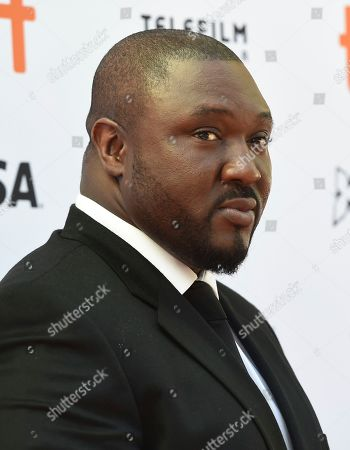 """Nonso Anozie attends a premiere for """"The Laundromat"""" on day five of the Toronto International Film Festival at Princess of Wales Theatre, in Toronto"""