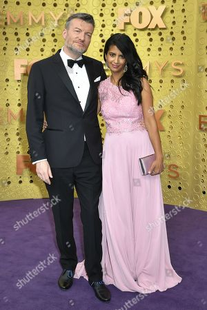 Stock Picture of Charlie Brooker and Konnie Huq