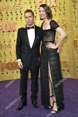 Stock Photo of Sam Rockwell and Leslie Bibb