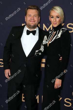 Stock Image of James Corden and Julia Carey