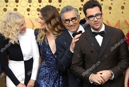Catherine O'Hara, Annie Murphy, Eugene Levy and Daniel Levy