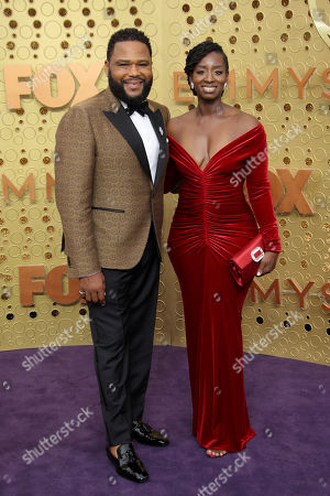 Stock Photo of Anthony Anderson and Alvina Stewart