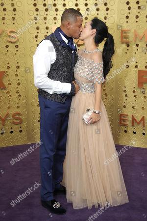 Stock Image of Terrence Howard and Mira Pak