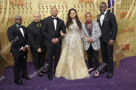 Ava DuVernay with Kevin Richardson, Antron Mccray, Raymond Santana Jr., Korey Wise and Yusef Salaam